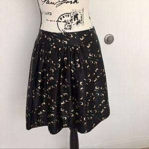 Milly silk a-line skirt